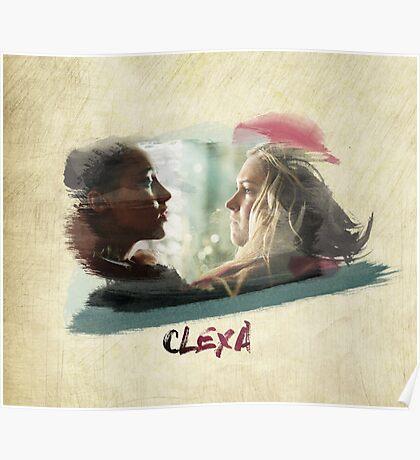 Clexa - The 100 - brush Poster