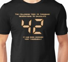 42: The Answer Unisex T-Shirt