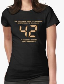 42: The Answer Womens Fitted T-Shirt