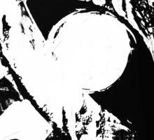 monochrome white eye on black background Sticker