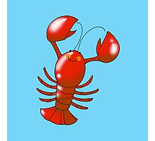 Cute red lobster Photographic Print