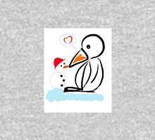 Penguin & snowman Womens Fitted T-Shirt