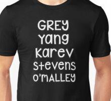 Grey's Anatomy - Names Unisex T-Shirt