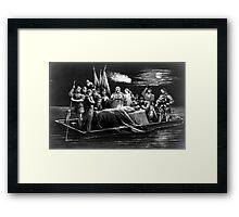 Burial of DeSoto - 1876 - Currier & Ives Framed Print