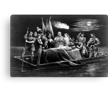 Burial of DeSoto - 1876 - Currier & Ives Canvas Print
