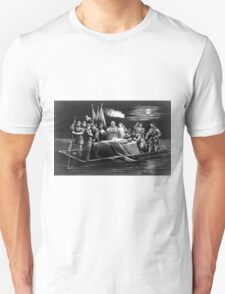 Burial of DeSoto - 1876 - Currier & Ives Unisex T-Shirt