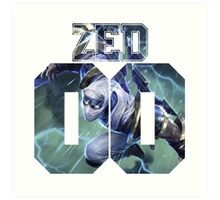 Zed League of legends Art Print