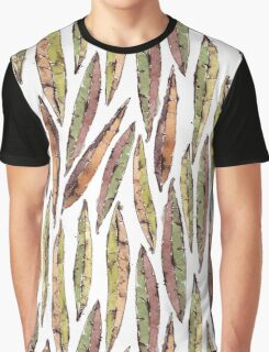 Watercolor Willow Leaves Pattern Graphic T-Shirt