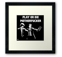 Lets play PULP FICTION Framed Print