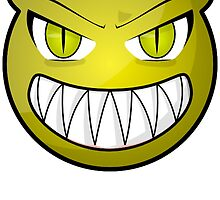 Smiling Scary Face Emoticon by tshirtdesign