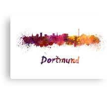 Dortmund skyline in watercolor Canvas Print