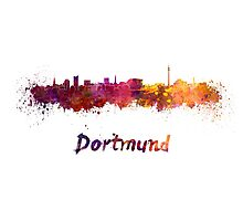 Dortmund skyline in watercolor Photographic Print
