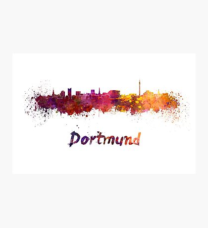 Dortmund skyline in watercolor Photographic Print