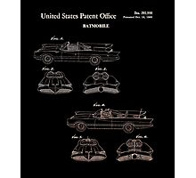Batmobile Car Patent 1966 Photographic Print