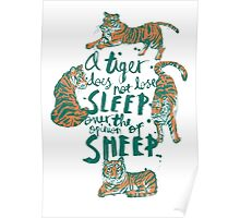 A Tiger Does Not Lose Sleep Poster
