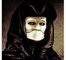 Spooky mask of Venetian tradition Photographic Print