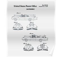 Batmobile Car Patent 1966 Poster