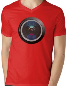 Camera Lens Mens V-Neck T-Shirt