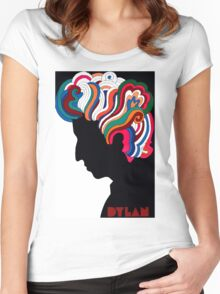 Bob Dylan icon Women's Fitted Scoop T-Shirt