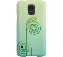 Chamouflaged green Chameleon lizard Samsung Galaxy Case/Skin