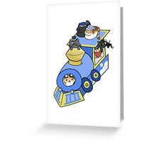 Meow Train Greeting Card