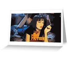 Mia Wallace Pulp Fiction Greeting Card