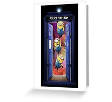 min tardis on galaxy Greeting Card