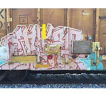 Train Graffiti Abstract Photographic Print