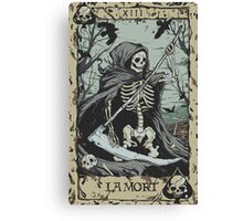 Death Card Canvas Print