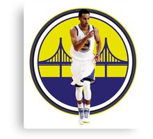 STEPHEN CURRY WITH GSW LOGO Canvas Print