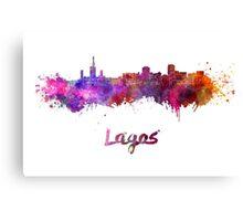 Lagos skyline in watercolor Canvas Print