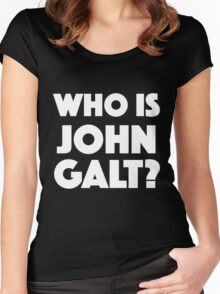 Who Is John Galt? Women's Fitted Scoop T-Shirt