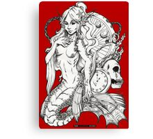 The Mermaid of Time Canvas Print