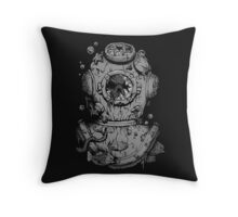 Dead Diver Throw Pillow