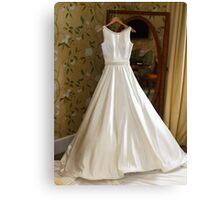Brides wedding dress Canvas Print