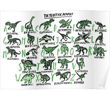 The Prehistoric Alphabet Poster