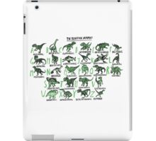 The Prehistoric Alphabet iPad Case/Skin