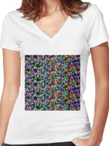 Randomly generated  Women's Fitted V-Neck T-Shirt