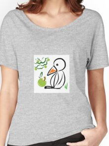 Penguin and apple Women's Relaxed Fit T-Shirt
