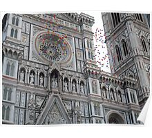 The Duomo and Balloons Poster
