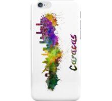Caracas skyline in watercolor iPhone Case/Skin
