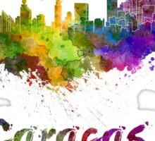Caracas skyline in watercolor Sticker