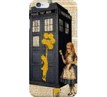 Banksy by Alice on Dr Who Tardis Phone Box iPhone Case/Skin