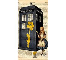 Banksy by Alice on Dr Who Tardis Phone Box Photographic Print