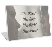 The Kiss, The Spit, The Kick, The Bow - Clexa Laptop Skin