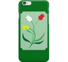 Tulips in 3 colors iPhone Case/Skin