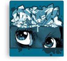 Graffiti WATCH (blue) Canvas Print