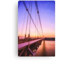 Sunset Bridge Canvas Print
