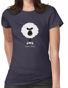 Sheep Skate - Graphic Tee Womens Fitted T-Shirt