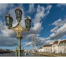 Lanterns on Westminster Photographic Print